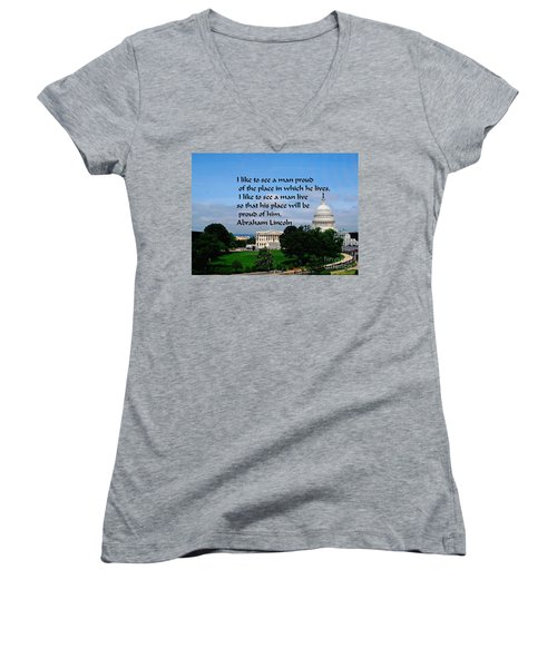 Photography Women's V-Neck T-Shirt (Junior Cut) by Gary Wonning