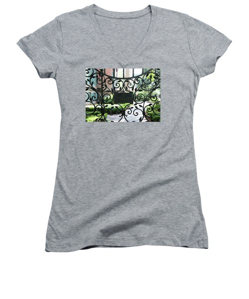 Pi Kappa Phi Gate Women's V-Neck T-Shirt