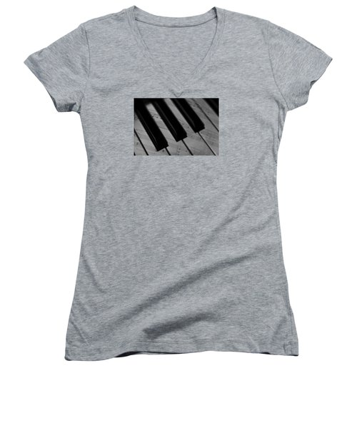 Piano Keys Women's V-Neck