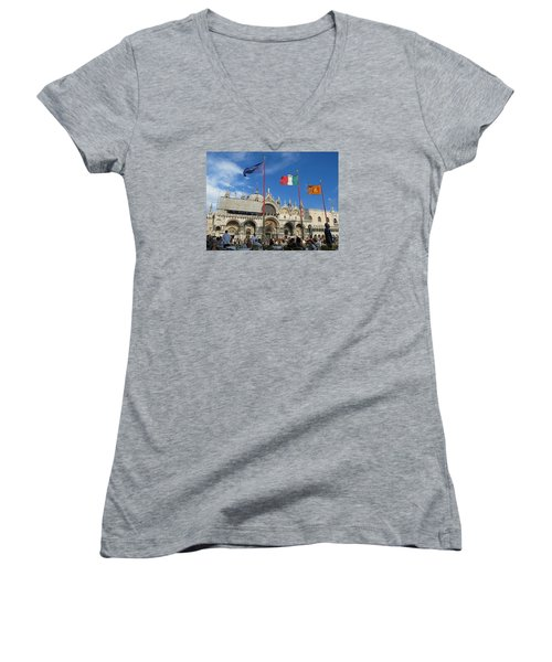 Piazza San Marco Venice Women's V-Neck T-Shirt