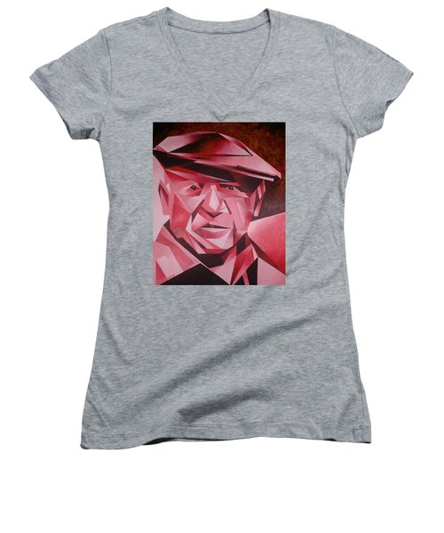 Picasso Portrait The Rose Period Women's V-Neck T-Shirt