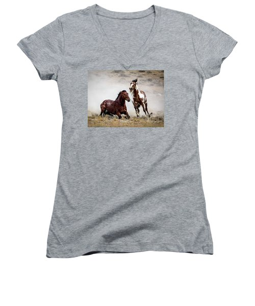 Picasso - Wild Stallion Battle Women's V-Neck