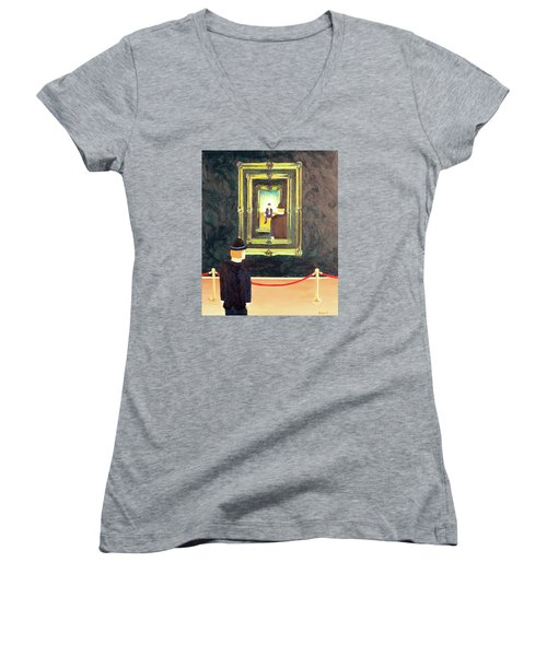 Pictures At An Exhibition Women's V-Neck T-Shirt (Junior Cut)