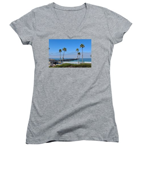 Pier And Palms Women's V-Neck (Athletic Fit)