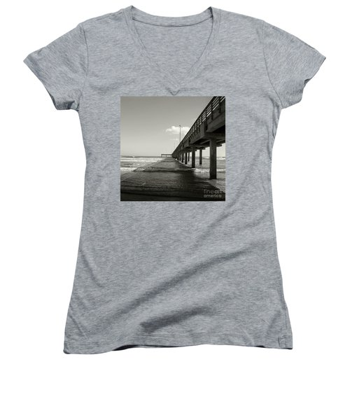 Pier 1 Women's V-Neck T-Shirt (Junior Cut)