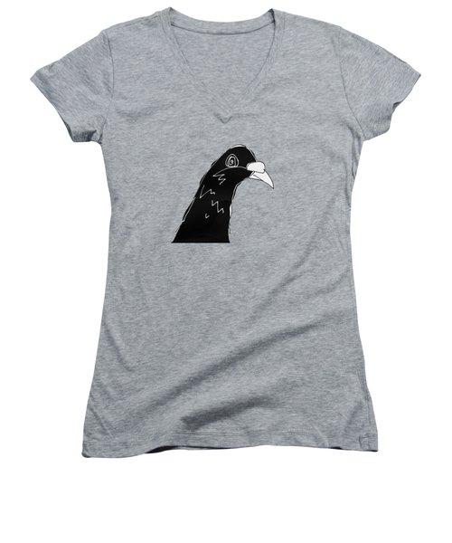 Pigeon Women's V-Neck T-Shirt (Junior Cut) by Matt Mawson