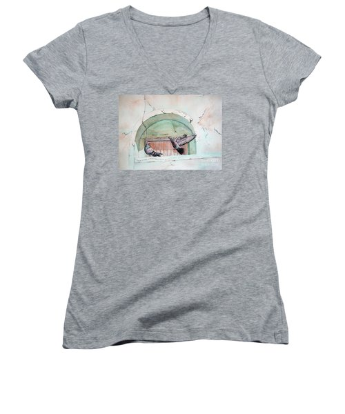 Pigeon Perch Women's V-Neck (Athletic Fit)