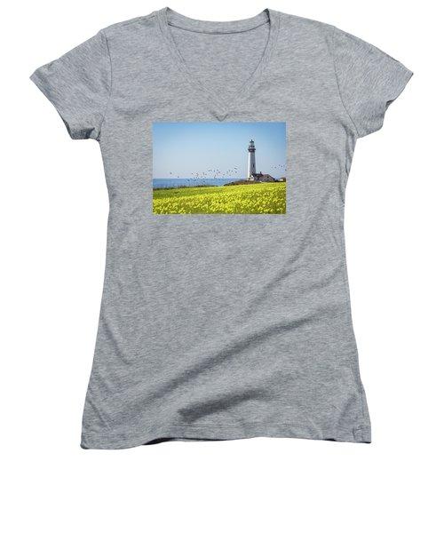 Pigeon Point Light Station Historic Park Women's V-Neck T-Shirt