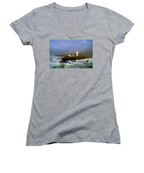 Pigeon Point Lighthouse Women's V-Neck T-Shirt