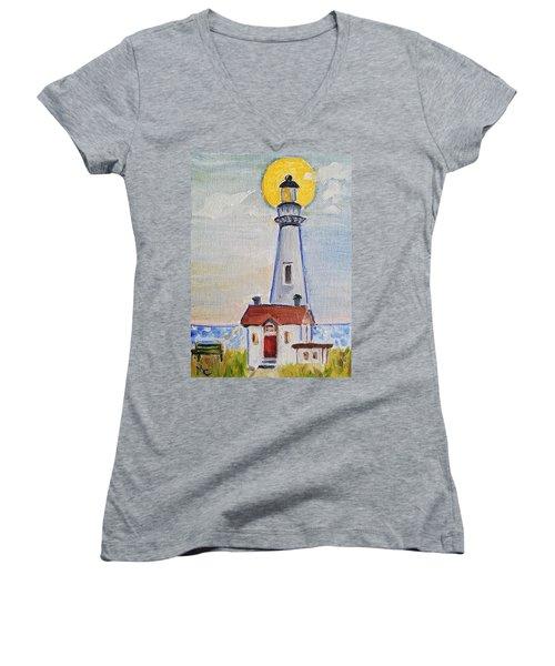 Pigeon Point Lighthouse  Women's V-Neck