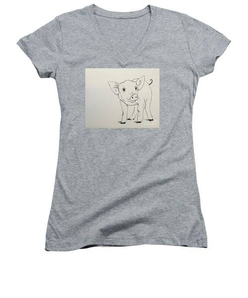 Piglet Women's V-Neck T-Shirt