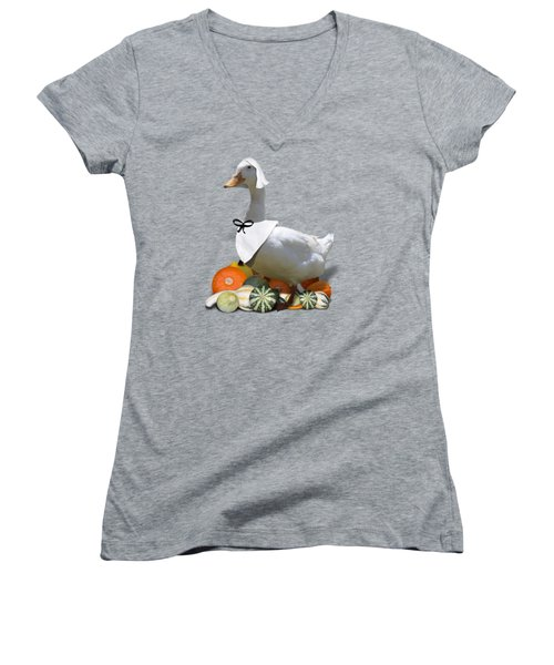 Pilgrim Duck Women's V-Neck T-Shirt