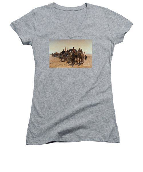 Pilgrims Going To Mecca Women's V-Neck (Athletic Fit)