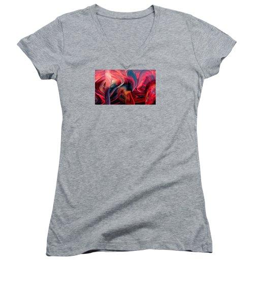 Pillars Women's V-Neck T-Shirt (Junior Cut) by Adria Trail
