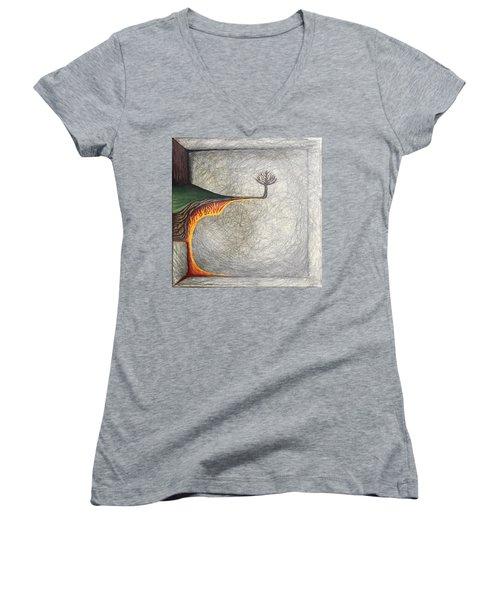 Pillow Women's V-Neck T-Shirt (Junior Cut) by Steve  Hester