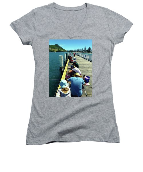 Pilot Bay Beach 6 - Mount Maunganui Tauranga New Zealand Women's V-Neck