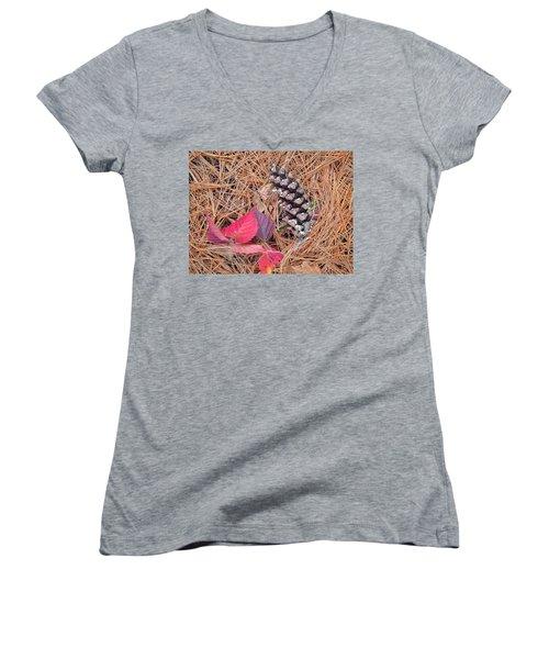 Pine Cone  Women's V-Neck T-Shirt