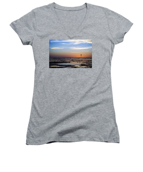 Pine Island Sunset Women's V-Neck T-Shirt