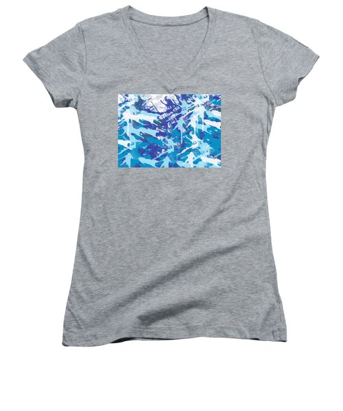 Pine Trees Women's V-Neck T-Shirt (Junior Cut) by Trilby Cole