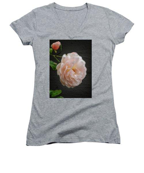 Pink A8 Women's V-Neck T-Shirt (Junior Cut)