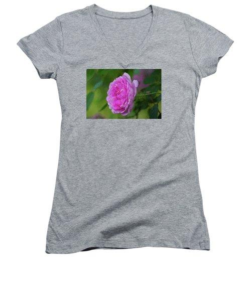 Pink Beauty In Bloom Women's V-Neck