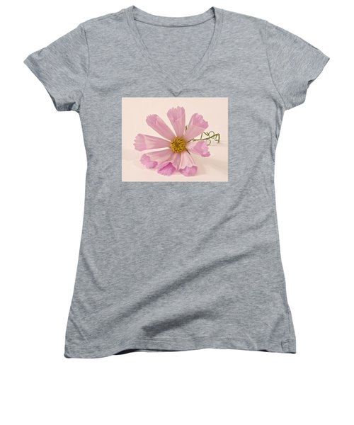 Pink Cosmo - Sea Shell Macro Women's V-Neck (Athletic Fit)