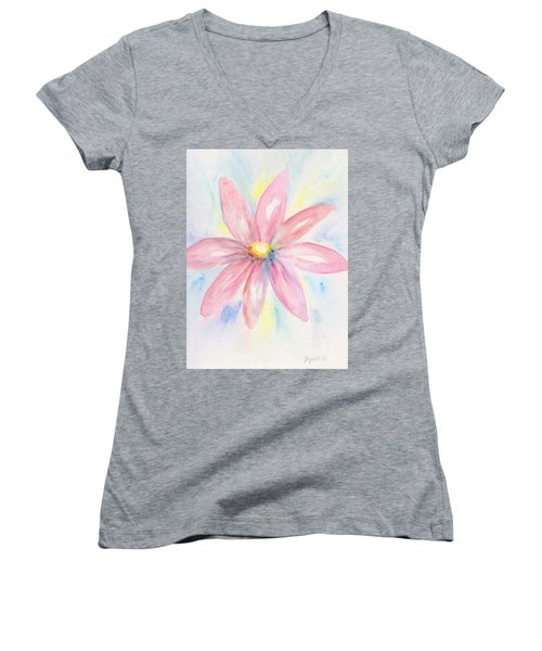 Pink Daisy Women's V-Neck