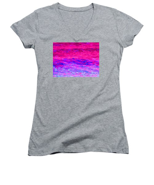 Pink Fantasy Waters Abstract Women's V-Neck
