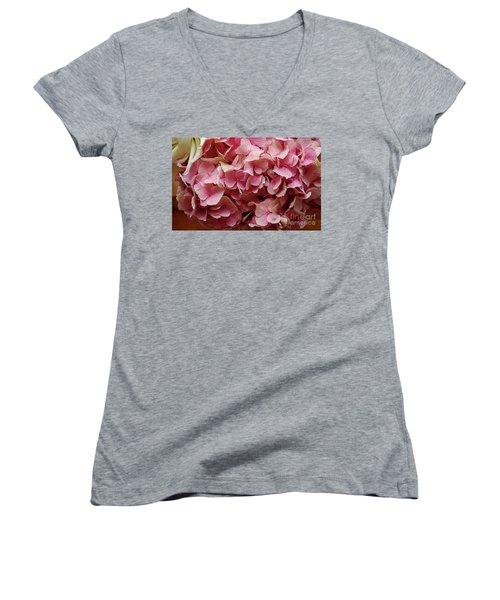 Pink Flowers Women's V-Neck