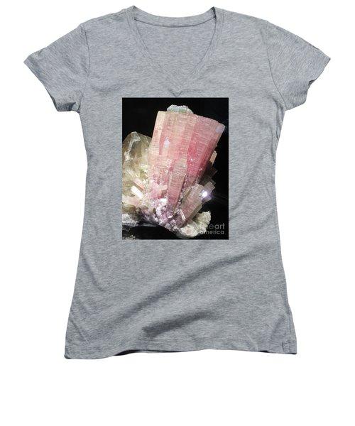 Pink Gemstone Women's V-Neck (Athletic Fit)