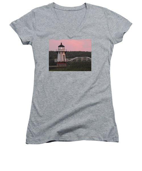 Pink In The Morning Women's V-Neck
