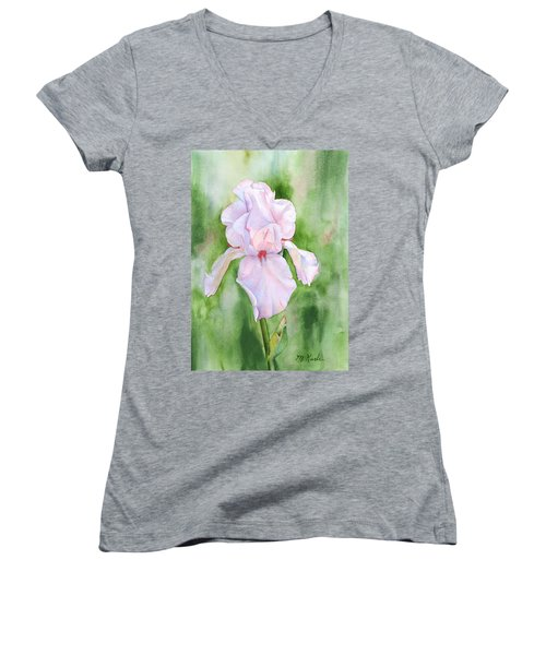 Pink Iris Women's V-Neck