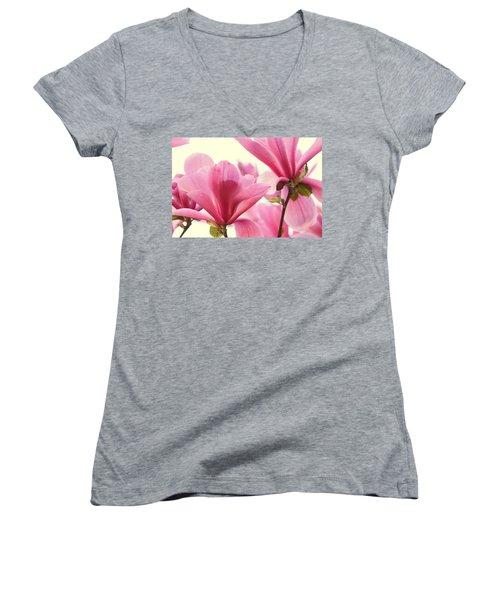 Pink Magnolias Women's V-Neck