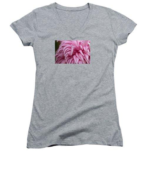 Pink Mum Women's V-Neck T-Shirt (Junior Cut) by Jim Gillen