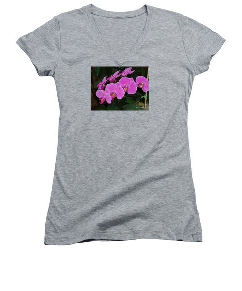 Pink Orchid Women's V-Neck T-Shirt