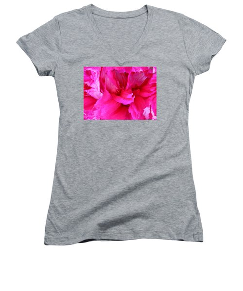 Pink Splash Women's V-Neck T-Shirt