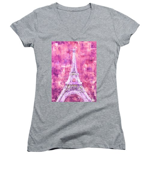 Pink Tower Women's V-Neck