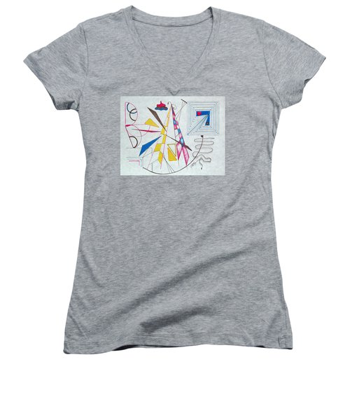 Pinnacle Of Time Women's V-Neck T-Shirt