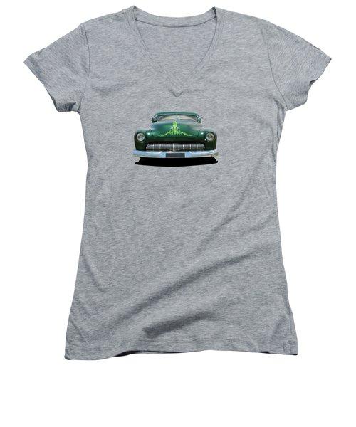Pinstripes Women's V-Neck T-Shirt (Junior Cut) by Keith Hawley