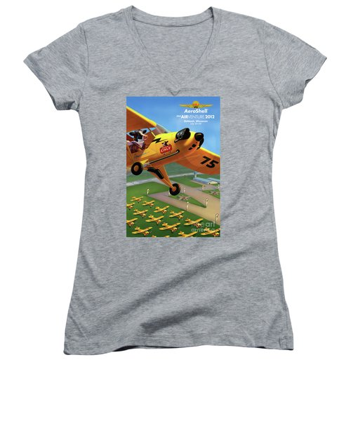 Piper Aircraft Poster  Women's V-Neck
