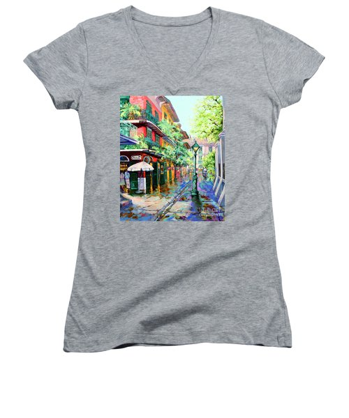 Pirates Alley - French Quarter Alley Women's V-Neck (Athletic Fit)