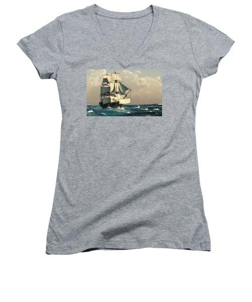 Pirates On The High Seas Women's V-Neck
