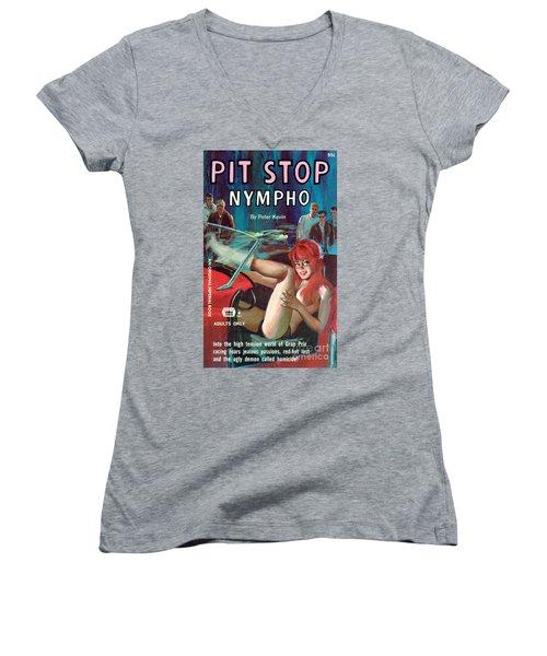 Pit Stop Nympho Women's V-Neck