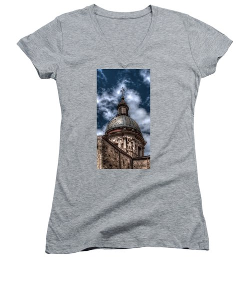 Place Of Worship Women's V-Neck (Athletic Fit)