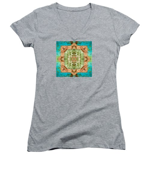 Women's V-Neck T-Shirt (Junior Cut) featuring the photograph Planet Bounty by Bell And Todd