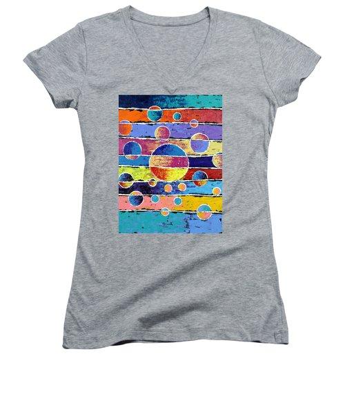 Planet System Women's V-Neck T-Shirt (Junior Cut) by Jeremy Aiyadurai