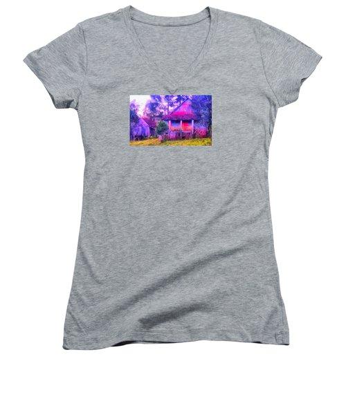 Plank Homes Women's V-Neck T-Shirt