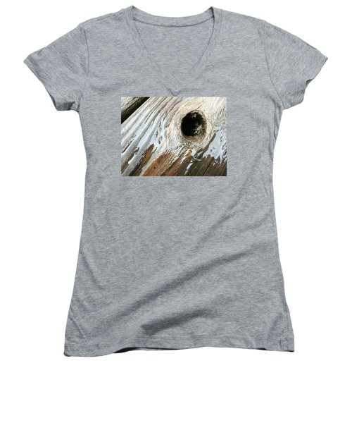 Women's V-Neck featuring the photograph Planking The Right Way? by Robert Knight