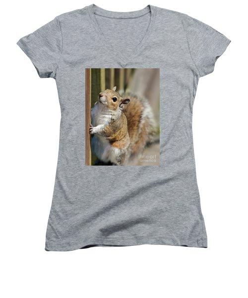 Planning My Escape Women's V-Neck T-Shirt (Junior Cut) by Pamela Blizzard
