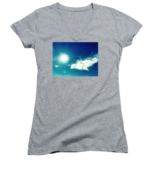 Platinum Rays And Angelic Cloud Bless The Prairie Women's V-Neck